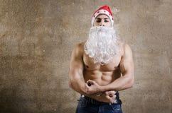 Aptidão Santa Claus Imagem de Stock Royalty Free