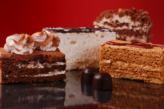 aptitretande cakessötsaker Arkivbild