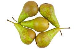 Aptitretande nytt saftigt päron på vit bakgrund Royaltyfri Foto
