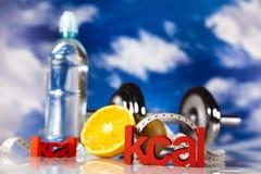 Aptitud, caloría Foto de archivo libre de regalías
