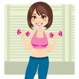 Aptitud de la pesa de gimnasia Imagen de archivo