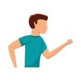 Aptitud del avatar del hombre del atleta Foto de archivo
