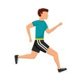 Aptitud del avatar del hombre del atleta Imagen de archivo