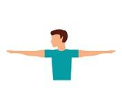 Aptitud del avatar del hombre del atleta Imagen de archivo libre de regalías