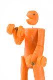 Aptitud del hombre de la zanahoria Foto de archivo libre de regalías