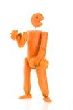 Aptitud del hombre de la zanahoria Fotografía de archivo