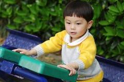 Aptitud del niño en parque Fotografía de archivo