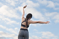 aptitud, deporte y concepto sano de la forma de vida - wom adolescente feliz Imagen de archivo libre de regalías