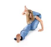 Aptitud - muchacha flexible fotos de archivo
