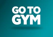 Aptitud y cita de la motivación del gimnasio Fotografía de archivo