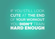 Aptitud y cita de la motivación del gimnasio Foto de archivo libre de regalías
