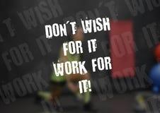 Aptitud y cita de la motivación del gimnasio Foto de archivo