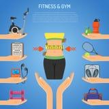 Aptitud y concepto del gimnasio Imágenes de archivo libres de regalías