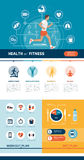 Aptitud y deportes infographic libre illustration