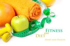 Aptitud y dieta, comida sana Fotografía de archivo