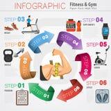 Aptitud y gimnasio Infographics Imágenes de archivo libres de regalías