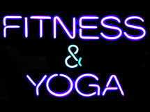 Aptitud y yoga Fotos de archivo
