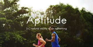 Aptitude Natural Human Ability Graphic Concept Stock Images