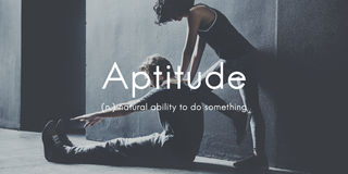 Aptitude Natural Human Ability Graphic Concept Stock Photography