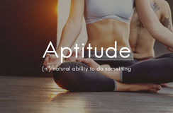 Aptitude Natural Human Ability Graphic Concept royalty free stock image
