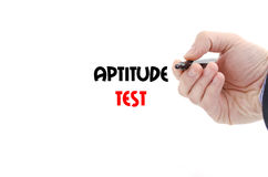 Aptitude test text concept. Isolated over white background Royalty Free Stock Image