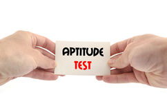 Aptitude test text concept. Over white background Stock Photography