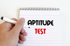 Aptitude test text concept. Over white background Stock Photos