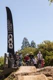 APTOS村庄- 4月14日:第4只每年圣克鲁斯登山车Fe 图库摄影