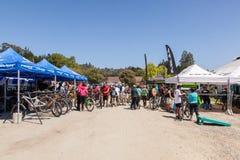 APTOS村庄- 4月14日:第4只每年圣克鲁斯登山车Fe 免版税库存图片