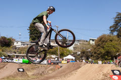 APTOS-BY - APRIL 14: 4th årliga Santa Cruz Mountain Bike Fe Royaltyfria Foton