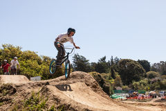 APTOS-BY - APRIL 14: 4th Årliga Santa Cruz Mountain Bike Fe Royaltyfri Bild