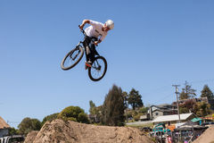 APTOS VILLAGE - APRIL 14: 4th Annual Santa Cruz Mountain Bike Fe Stock Photo