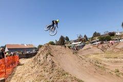 APTOS VILLAGE - APRIL 14: 4th Annual Santa Cruz Mountain Bike Fe Royalty Free Stock Photo