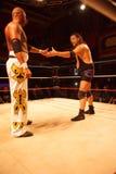 Apu Singh vs Joe E legend Royaltyfria Foton