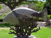 Apua do nukunuku de Humuhumu dos peixes do disparador 'uma estátua imagem de stock royalty free