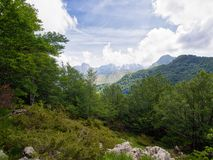 Apuan Alps, Italy. Unspoiled by quarries etc. Beautiful natural mountain landscape in an area untouched by the marble quarries. Wild nature Royalty Free Stock Photography