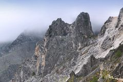 Apuan Alps. Landscape in Tuscany, Italy. Rainy weather Stock Photo