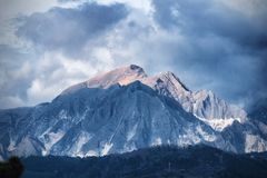 Apuan alps, Mt. Sagro. Mt. Sagro of the Apuan Alps taken from the sea Royalty Free Stock Images