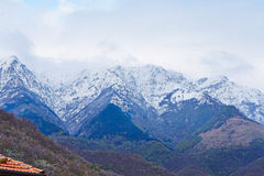 Apuan alps. During a strong winter Royalty Free Stock Photo