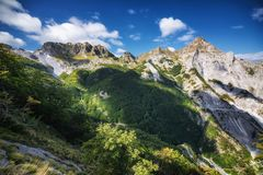 Apuan alps. View of Apuan alps, italian mountains Royalty Free Stock Photo