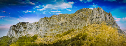 Apuan Alps. View of a detail of Apuan Alps in Italy Royalty Free Stock Photo