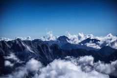 Apuan alps. View from Apuan alps, italian mountains Stock Images