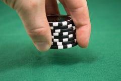 Apuesta del póker Imágenes de archivo libres de regalías