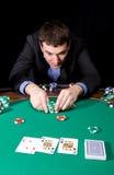 Apuesta en casino Foto de archivo libre de regalías