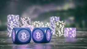 Apuesta y cryptocurrency ilustración del vector