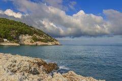 Apula coast,Gargano National Park: Pungnochiuso beach. Vieste,Italy. Stock Photo