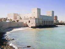 apulia城堡swabian trani 库存照片