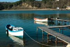apulia巴里小船端口城镇 免版税库存图片