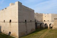 apulia barletta城堡中世纪的意大利 免版税库存图片