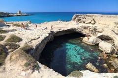 Apulia cave swimming Royalty Free Stock Photos